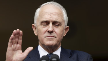 No Robert Menzies: Malcolm Turnbull's party elected him twice, and dumped him twice, as leader.