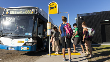 Buses in the eastern suburbs are losing millions due to passengers evading fares, unlike the good citizens in this photo.