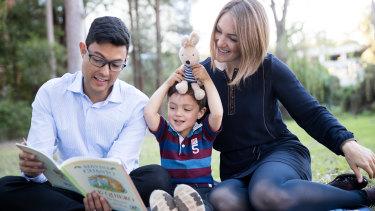 Mauricio and Lilia are teaching their son Elias, 3, to speak English, German and Spanish.