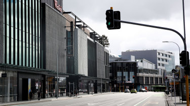 Auckland is nearly empty of traffic ahead of the midnight lockdown on March 25.