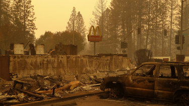 The northern California town of Paradise has been all but wiped off the map by the fires.