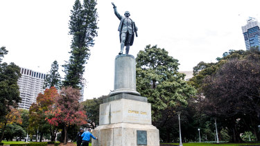 The Captain Cook statue in Hyde Park was defaced last week.