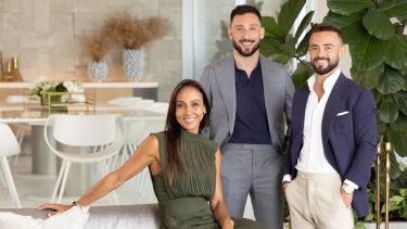 D'Leanne Lewis, Simon Cohen and Gavin Rubinstein in Luxe Listings Sydney.