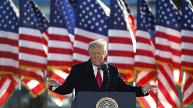 Former US president Donald Trump during the final days of his reign.