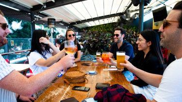 The Glenmore Hotel in The Rocks is one of 16 venues that will take advantage of the new outdoor drinking regulations.