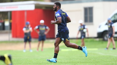 Maika Sivo has returned to pre-season training with the Eels despite a looming legal battle in Fiji.