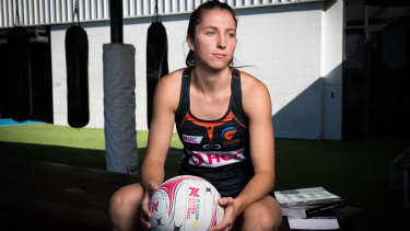 Inspiring: Amy Parmenter is balancing university studies with her Giants training.