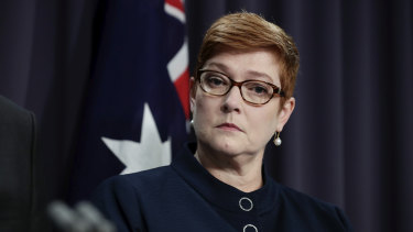Foreign Minister Marise Payne reportedly received the message via WhatsApp.