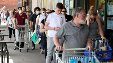 Shoppers flooded to supermarkets after the announcement on Wednesday.