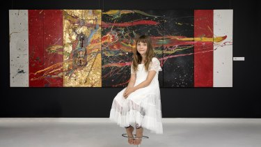 Ten-year-old abstract painter Aelita, from Melbourne, had her first solo show in New York. At the age of four.