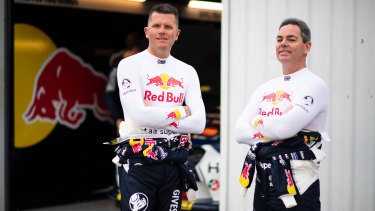 Garth Tander, left, pictured with Craig Lowndes, is preparing for an unexpected tilt at a fourth Bathurst crown.