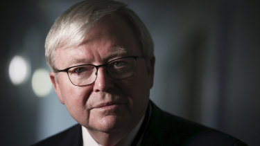 """Former prime minister Kevin Rudd claims Mossad had been """"found out"""" forging Australian passports before, in 2003."""