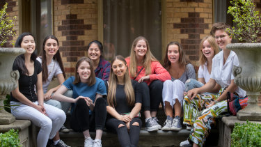 Students from Ruyton Girls' School in Kew, which achieved among the best VCE results in the state.