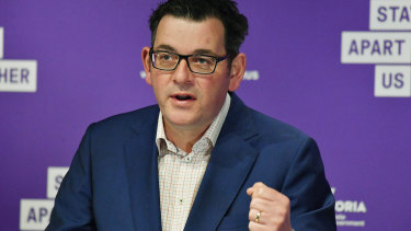 Premier Daniel Andrews put Melbourne in lockdown after a surge in coronavirus cases.