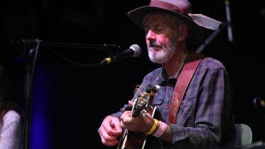 Shane Howard performs at Port Fairy Folk Festival.