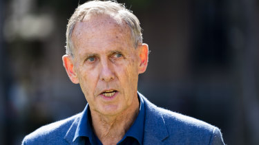 Former Greens leader Bob Brown speaks to the media during a press conference in Brisbane. Mr Brown is planning to protest against Adani outside the Indian embassy in Canberra.