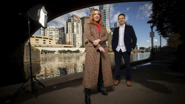 Hannah Fox and Gideon Obarzanek, co-artistic directors of Melbourne's new major arts festival Rising, coming next year.