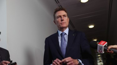Industry Minister Christian Porter has spoken to reporters in Canberra for the first time since taking on his new portfolio.