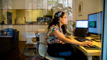 Stephanie White, an associate at consulting firm BCG, works at home when it suits her daily tasks.