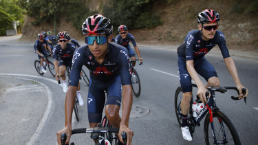 Colombia's Egan Bernal, left, is the defending champion and still the rider to beat in 2020.