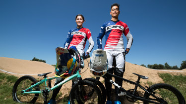Pedal power: Kai and Saya Sakakibara will represent Australia at the Tokyo Olympics in 2020.