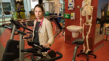 Dr  Kate Gregorevic at the Royal Melbourne Hospital.