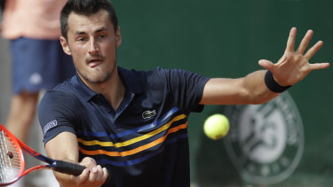 Lucky break: Bernard Tomic.