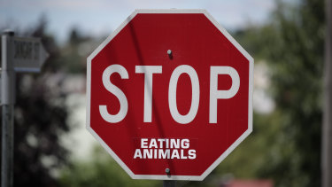 Vegan activism.