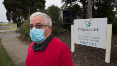 Joe Desira's mum, Rita, has lived in Estia's Keilor Downs home for three years and caught coronavirus in the second outbreak.