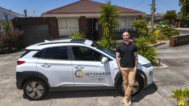 """""""It's a totally new way of driving"""": Chris Stone has become a fan of electric cars after being given a company car."""
