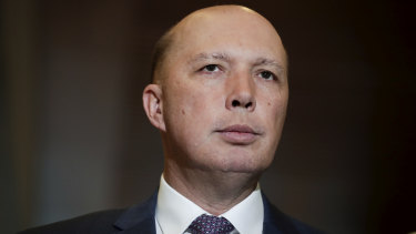 Home Affairs Minister Peter Dutton was on the island of Lombok when a powerful quake hit.