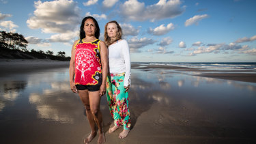 Delta Kay and Yuti McLean, who said her encounters with men at the beach stopped her from going there for a long time.