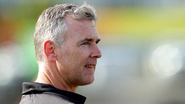 West Coast Eagles coach Adam Simpson.