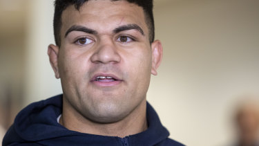 David Fifita was forced to pay a large sum in order to be released.