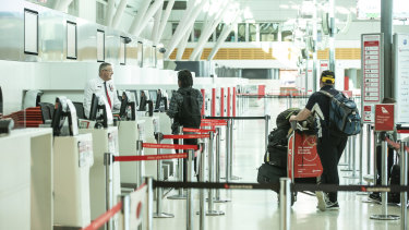 The nation's airports remain virtually empty with migrants unable to get into the country and long-term visitors having returned to their home nations.