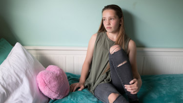 Mia Guille, 14, has had trouble sleeping for most of her life.
