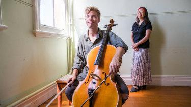 Cellist James Morley and composer Liza Lim