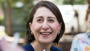 NSW Premier Gladys Berejiklian on Sunday after her election victory.