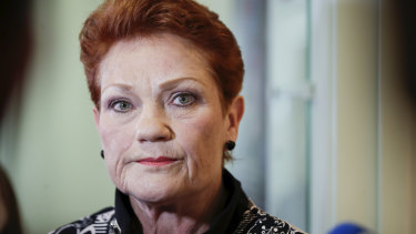 Pauline Hanson holds a potential deciding vote in the debate over the Ensuring Integrity Bill.