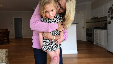 Addison Taylor and her grandmother Nancye Banks.