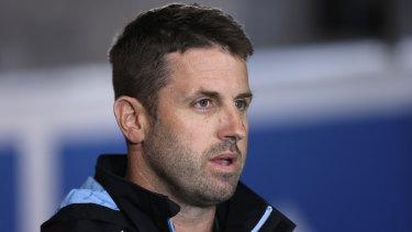 Cronulla Sharks caretaker coach Josh Hannay.