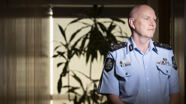 ACT Policing Chief Police Officer Ray Johnson.