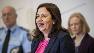 Premier Annastacia Palaszczuk announcing the border reopening on Tuesday.