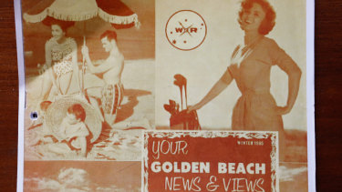 Some of the promotional material for Golden Beach and surrounds, once touted as Victoria's Surfers Paradise.