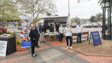 A pop-up coronavirus testing clinic was opened at Dandenong Mall on Friday, amid increased efforts to stem the cluster in Melbourne's south-east.