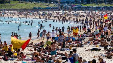 Bondi Beach on Monday.