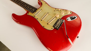 The Fender Stratocaster used by Jim Skiathitis to write, record and perform the song Bombora by The Atlantics.