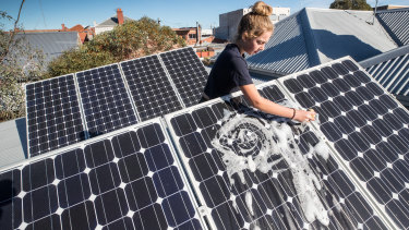 Cleaning up: solar PV demand is soaring - and political parties are seeking to accelerate the take-up in NSW.