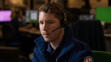 Raegan taking emergency calls at the Ambulance Control Centre in Sydney.