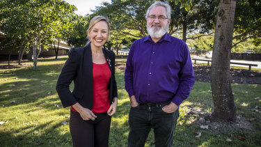 Greens senator Andrew Bartlett and former Greens senator Larissa Waters.